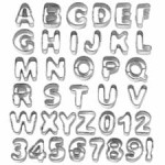 WILTON 37 Piece Alphabet & Number Cut-Outs™