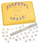 WILTON Italic Make-Any Message Letter Press Set