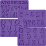 WILTON Letters:Numbers Fondant and Gum Paste Molds