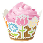 WILTON Modern Garden Party Cupcake Wraps