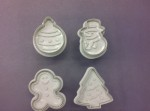 Christmas plunger cutter set