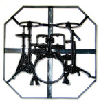Patchwork Cutter Drum Kit Plaque