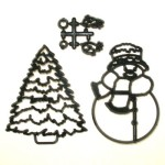 Patchwork Cutter Large Snowman & Tree