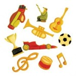 FMM SUGARCRAFT TAPPITS MUSIC & SPORT SET