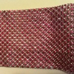 Pink and silver bling ribbon